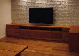 住宅(TVボード、リビング&ダイニング、ベッド)
